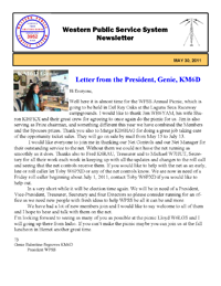 June Newsletter front page